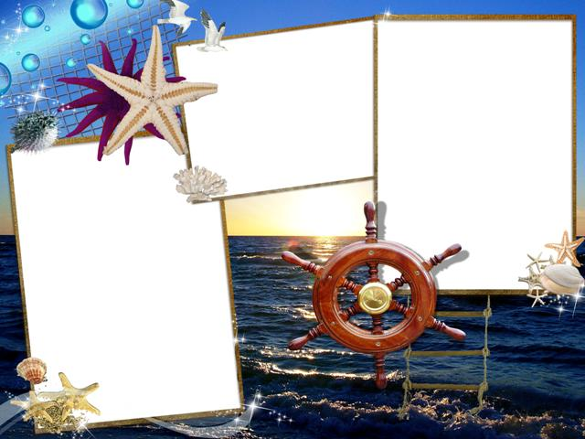 Рамки для открыток морские 24
