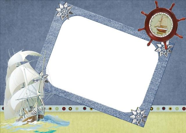 Рамки для открыток морские 9